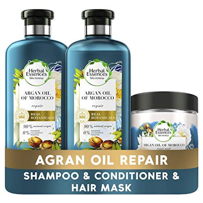 Herbal Essences Bio Renew Argan Oil of Morocco Hair Repair Treatment Set