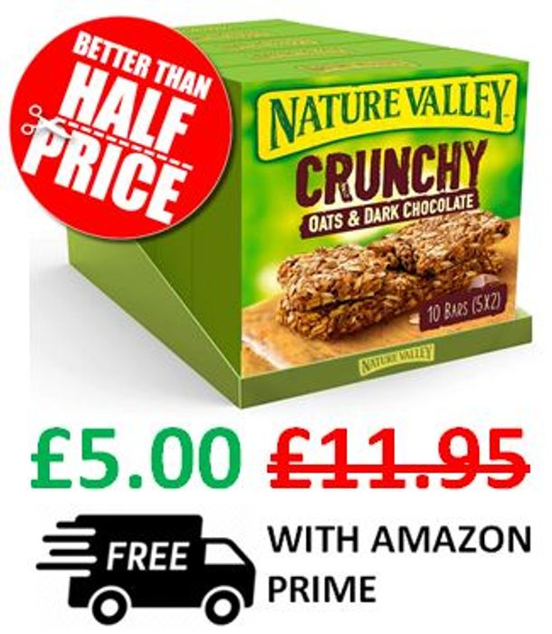 Nature Valley Oat & Chocolate 50 Bars (25 X 2)