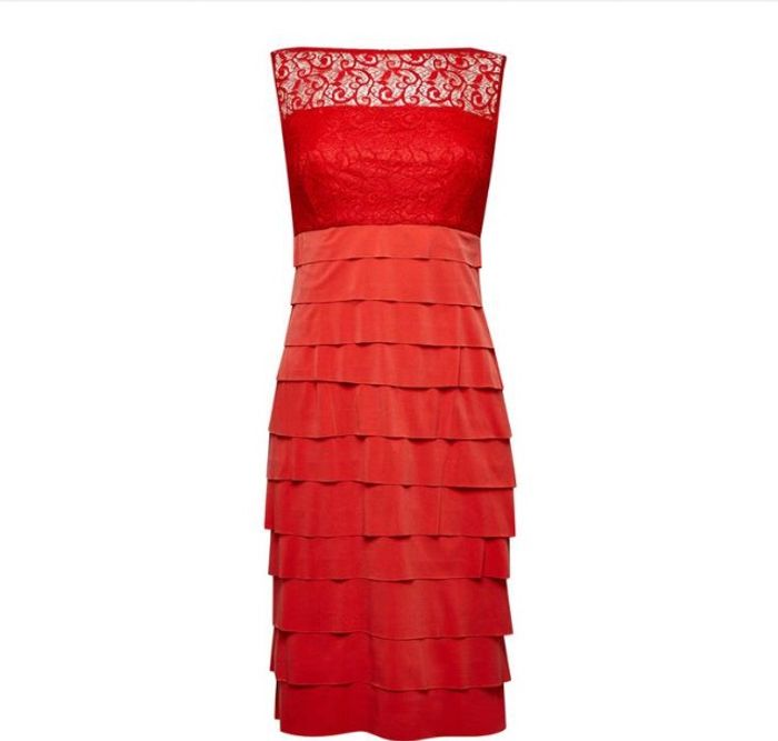 Dorothy Perkins - Lily and Franc Coral Shutter Bodycon Dress +Free Delivery