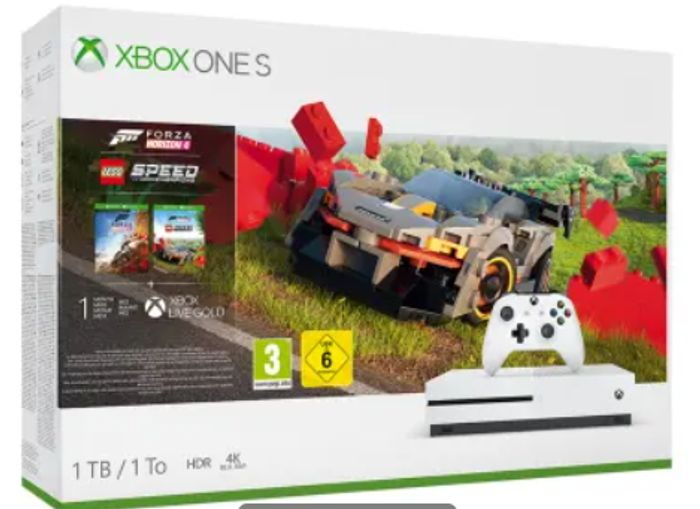 Cheap 1TB XBOX ONE S FORZA HORIZON 4 LEGO SPEED CHAMPIONS BUNDLE Only £249.99