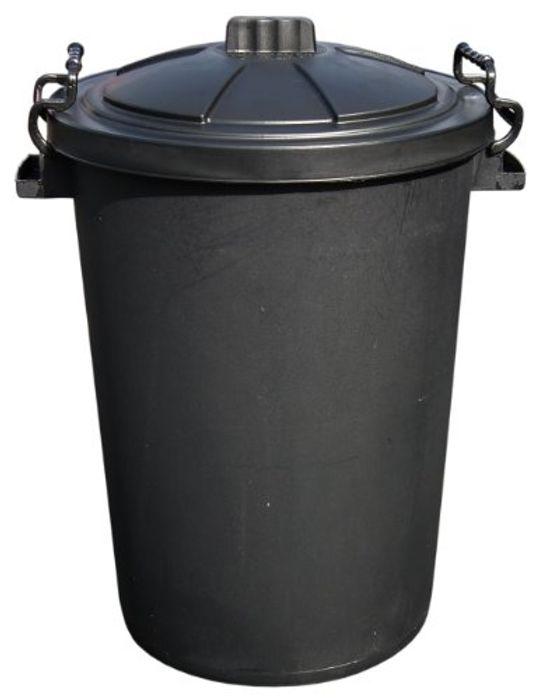 80L Capacity Outdoor Waterproof Garbage/Rubbish Bin with Lockable Lid
