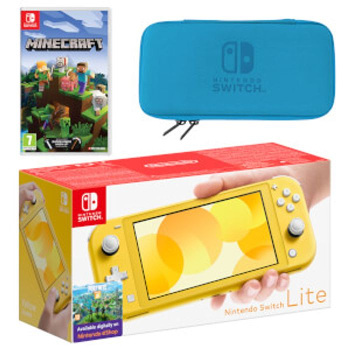 Nintendo Switch Lite (Yellow) Minecraft Pack Only £224.99