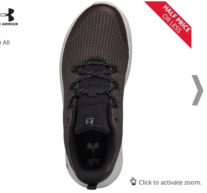Cheap Under Armour Junior Ripple GS Training Shoes Black - Save £28.00!