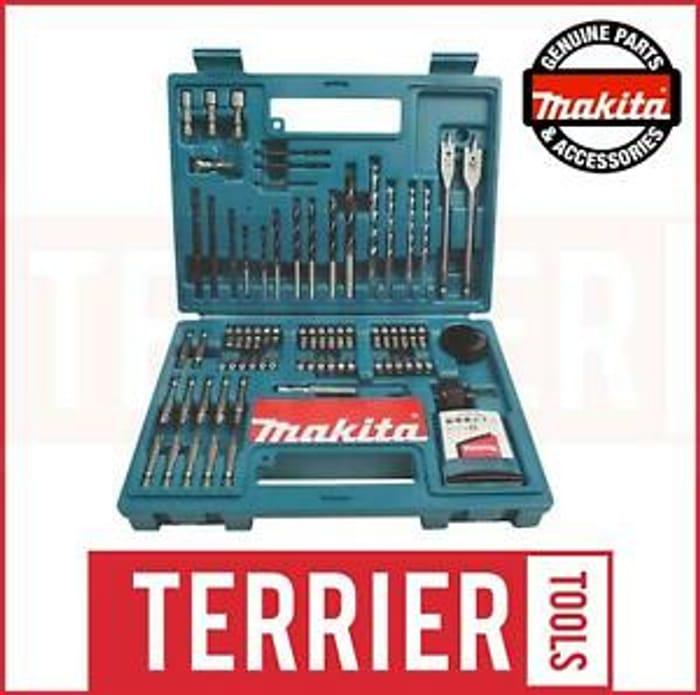 CHEAP! Makita 100 Piece Power Drill Bit Set Screwdriver Set-Holesaw Masonry HSS