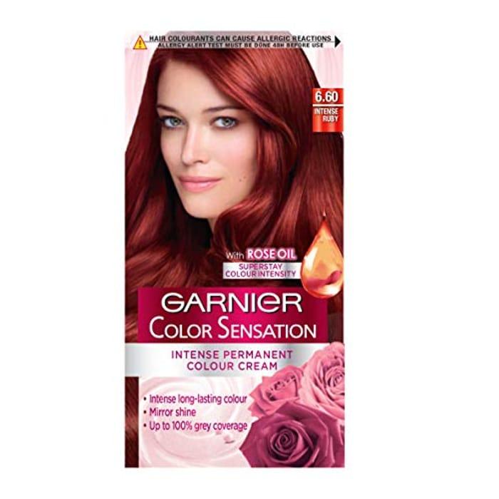 Garnier Color Sensation Red Hair Dye Permanent 6.60 Intense Ruby Red