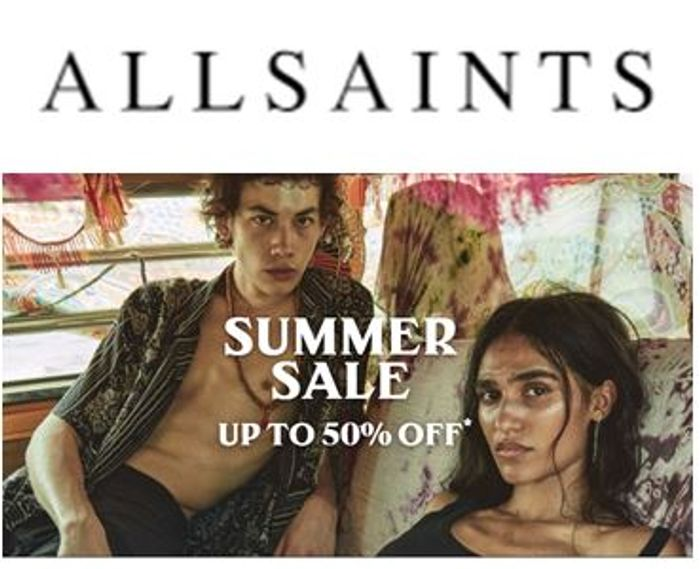 ALL SAINTS Summer Sale - up to 50% OFF