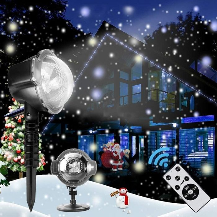 3D Rotating Patterns Projection Light - Christmas Snow
