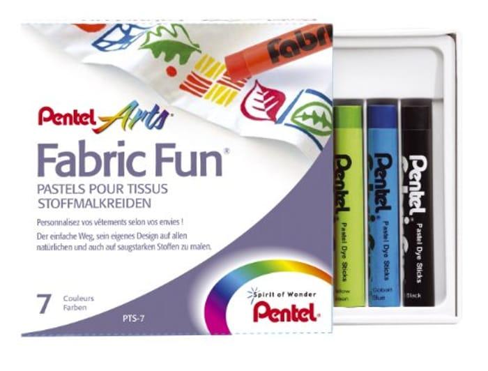 CHEAP! Pentel Fabric Fun Pastel Dye Stick (Pack of 7)