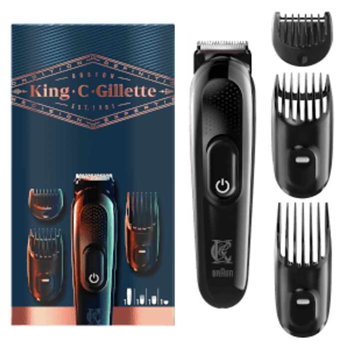King C. Gillette Rechargeable Beard Trimmer Kit - £19.99 With Free NDD!