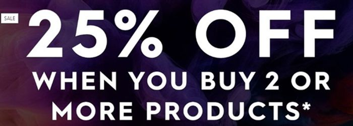 Get 25% off When You Buy 2 Products!