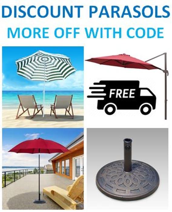 Cheap Parasols. Free Delivery Parasols. Extra 5% off Parasols