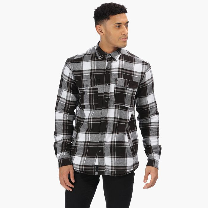 Regatta - Black 'Tygo' Chequered Long Sleeves Shirt on Sale From £50 to £15