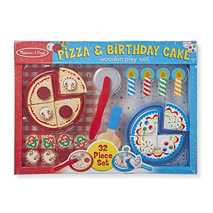 Melissa & Doug Pizza and Cake Wooden Play Set (32 Pieces)
