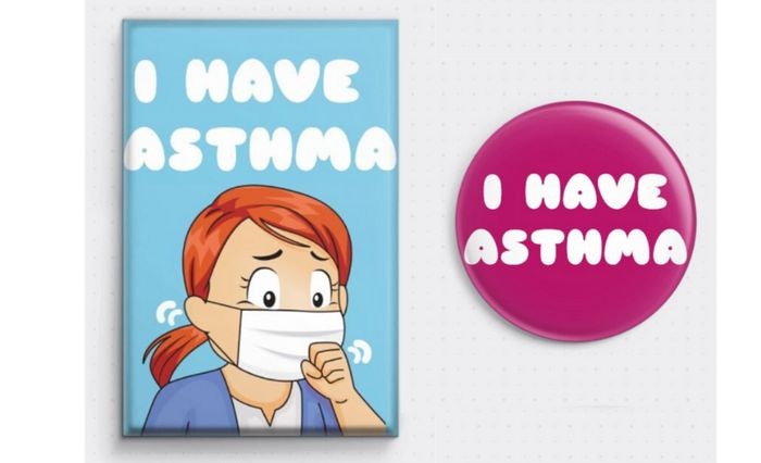 FREE Asthma Sufferers Badges