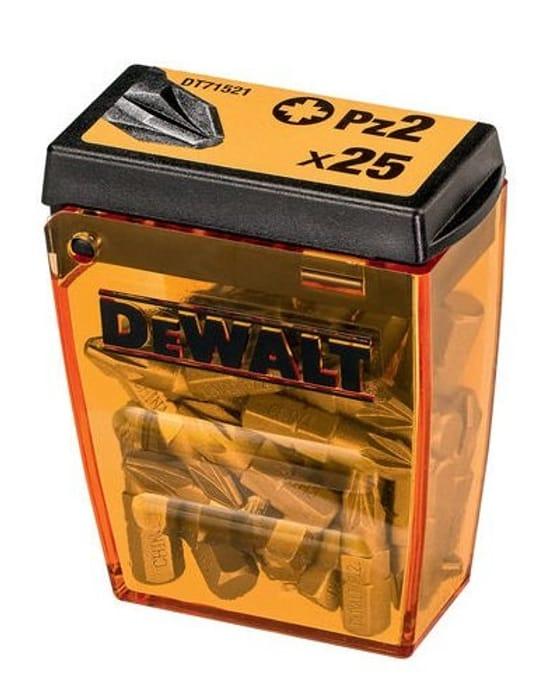 CHEAP! Dewalt Impact Screwdriver Bit Set 25 X PZ2 25 Piece in Tic Tac Box