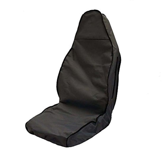 J.R. Tailor Fit Rear Seat Cover Set, Anti-Slip Material in Grey