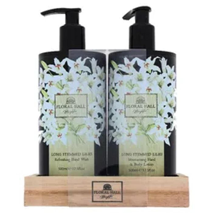 Floral Hall Long Stemmed Lilies Handwash and Lotion 2 X 500ml Bottles