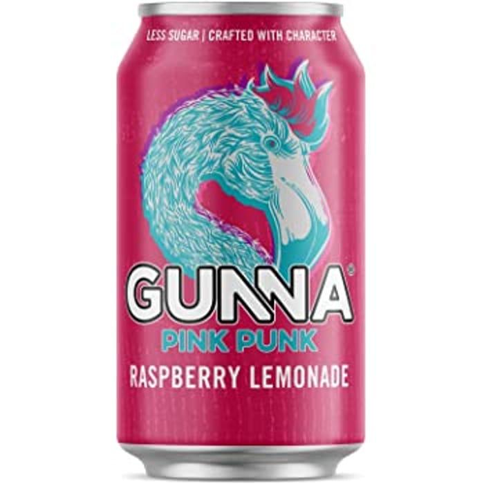 FREE Gunna Pink Punk Raspberry Lemonade 330ml (X2)