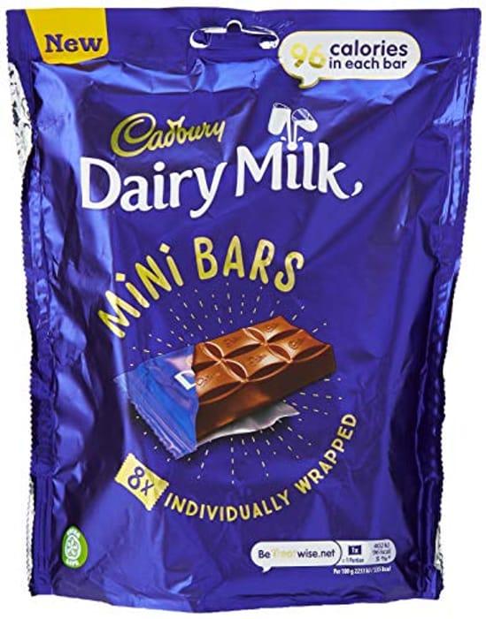 Cadbury Dairy Milk Chocolate Mini Bars Multipack 114 G (8 Mini Bars X 18 G)