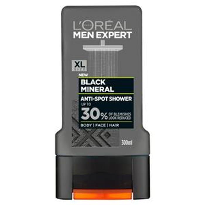 L'Oreal Paris Men Expert Black Mineral Shower Gel 300ml - £1.50