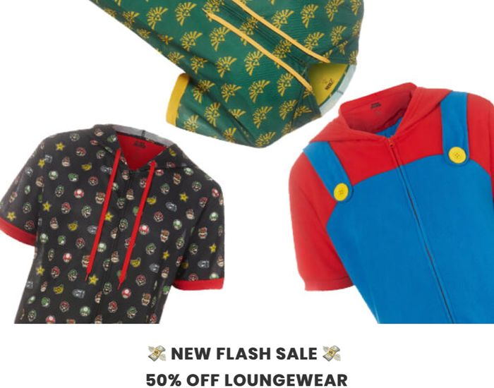 50% off Loungewear Inc Marvel, Nintendo & More