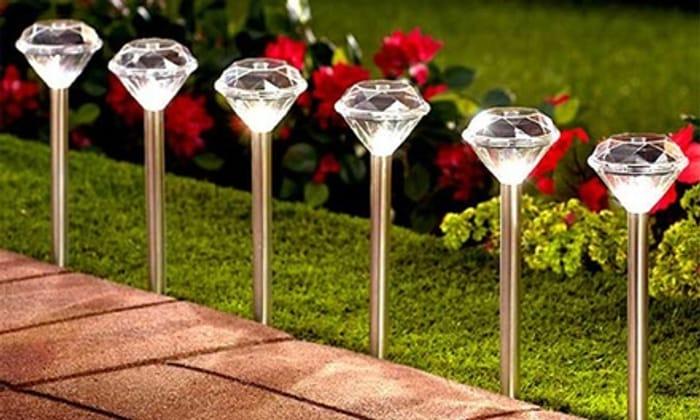 10 Solalite Solar Diamond Stake Lights
