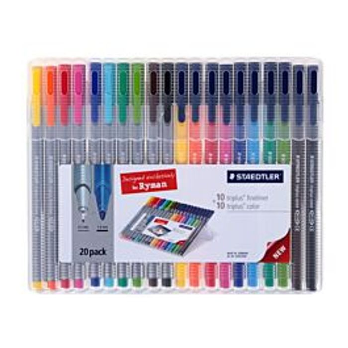 *HALF PRICE* Staedtler Triplus Colour and Fineliner Pack of 20