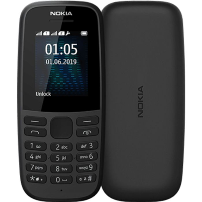 "*SAVE £13* Nokia 105 2019 Black 1.77"" 4MB 2G Unlocked & SIM Free"