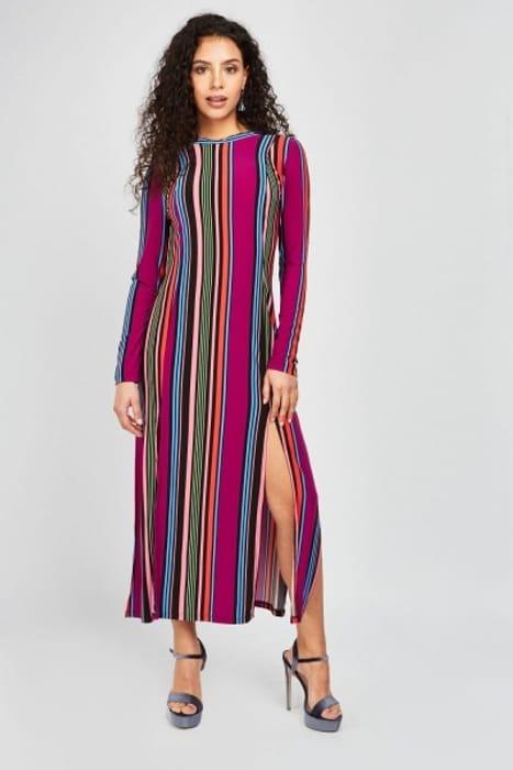 Candy Striped Midi Dress HALF PRICE