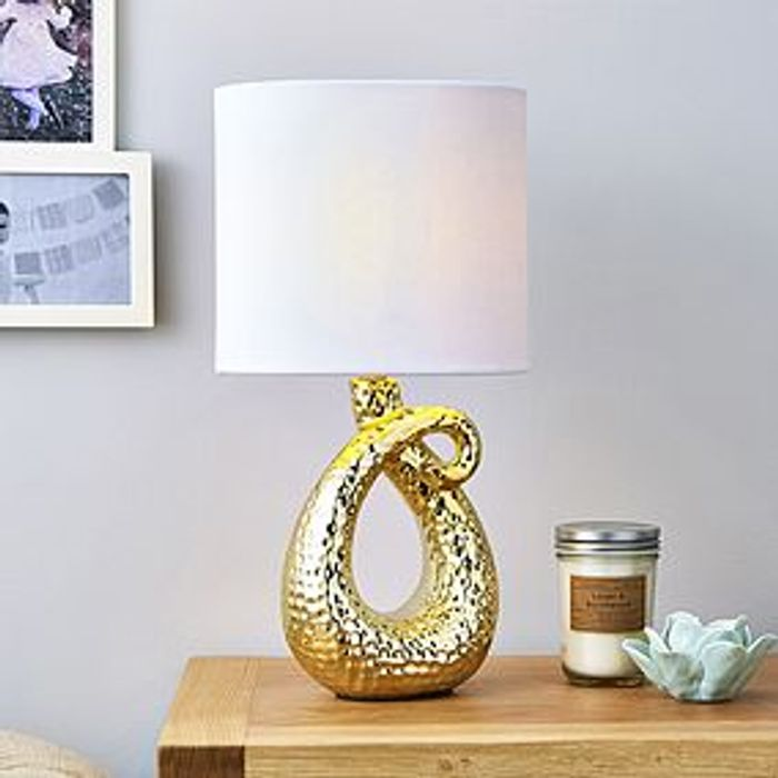 Ceramic Gold Table Lamp HALF PRICE