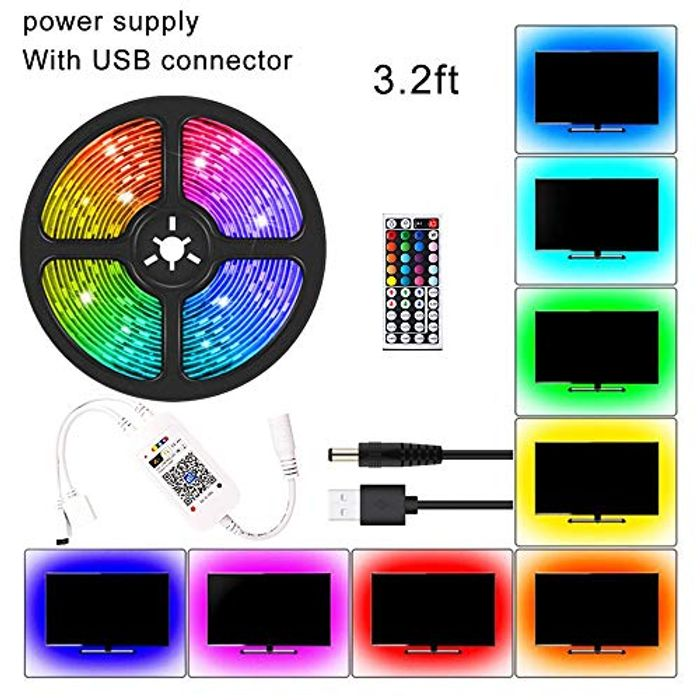LED Colour Changing Strip Light with Remote at Amazon