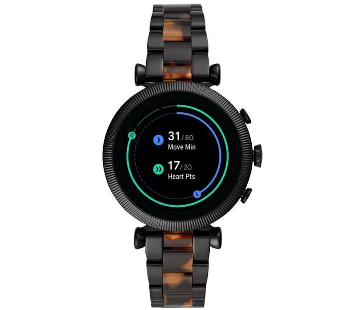Best Price! FOSSIL Sloan HR Smartwatch - Black & Brown, 40 Mm