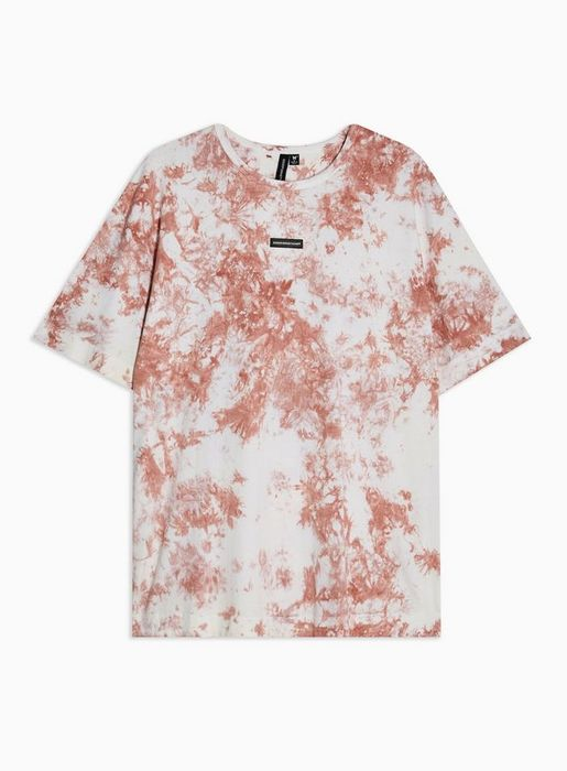 GOOD for NOTHING Pink Tie Dye Centre Rubber T-Shirt