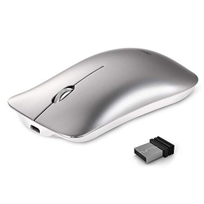Wireless Mouse, INPHIC Rechargeable Silent Click USB 2.4G PC