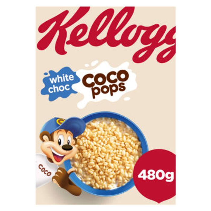 Kellogg's White Choc Coco Pops Cereal 480g on Sale From £2.99 to £1.5