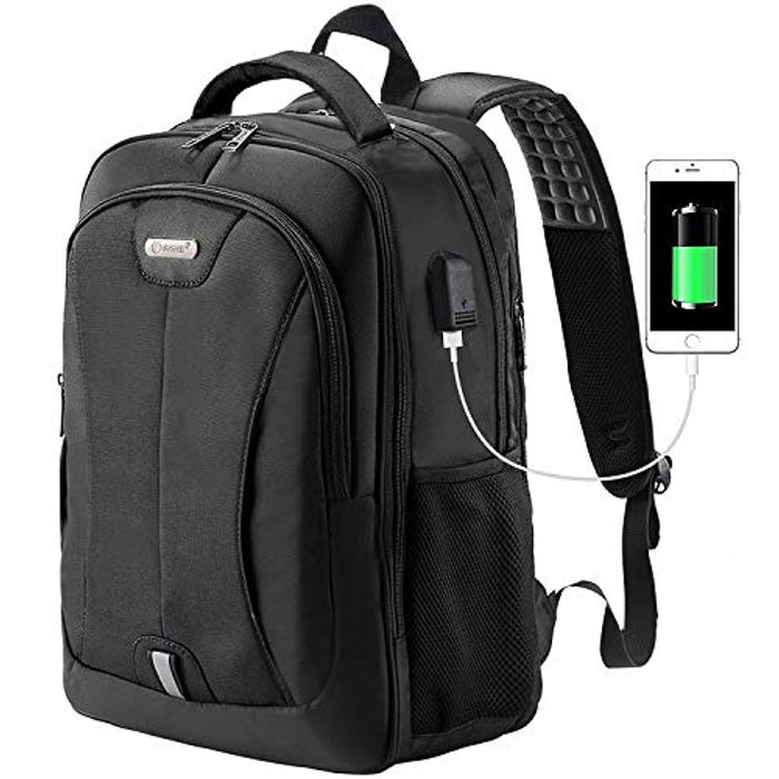 Business Large Rucksack with USB Charging Port