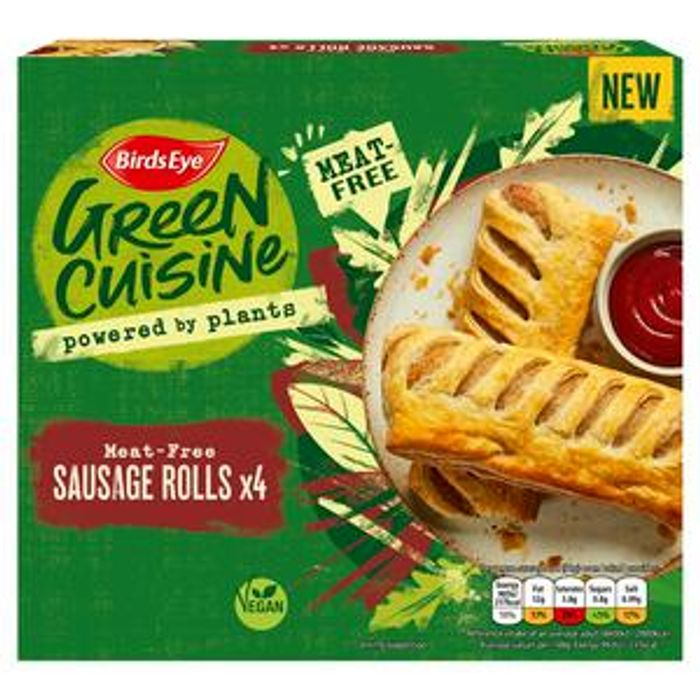 Birds Eye Green Cuisine Meat-Free Sausage Rolls X4 360g
