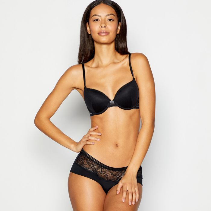 The Collection - Black Mesh Underwired Padded T-Shirt Bra Only £5