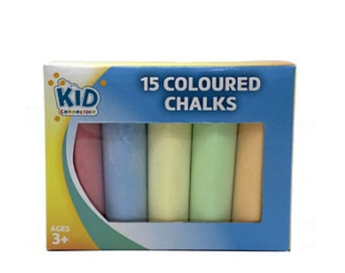 Kid Connection Coloured Chalk 15 Pack