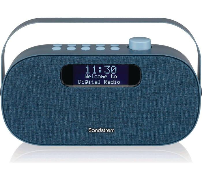 *HALF PRICE* SANDSTROM Portable DAB+/FM Bluetooth Radio - Blue
