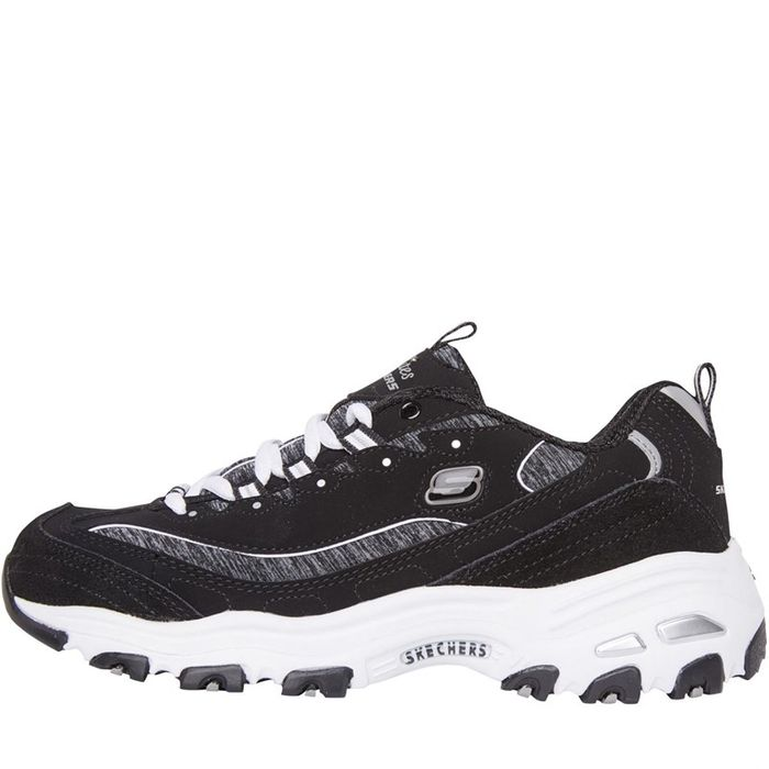 *SAVE £24* SKECHERS Womens D'Lites Me Time Trainers Black/White Sizes 3 > 8