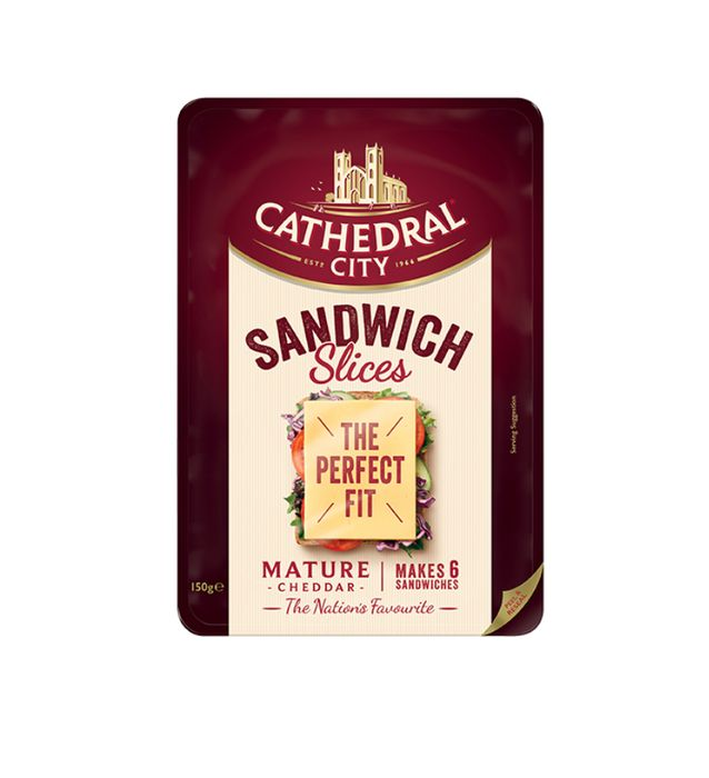 Cathedral City Sandwich Slices Mature/Lighter at Tesco or Asda