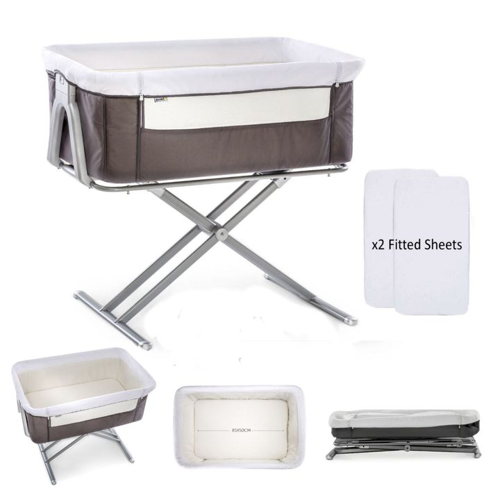Special Offer - Hauck Face to Me Bedside Crib with X2 Fitted Sheets