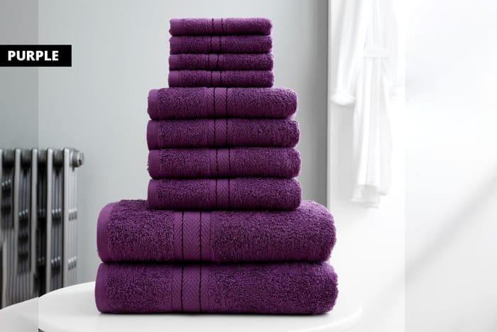 10pc 100% Cotton Towel Bale - 10 Colours!