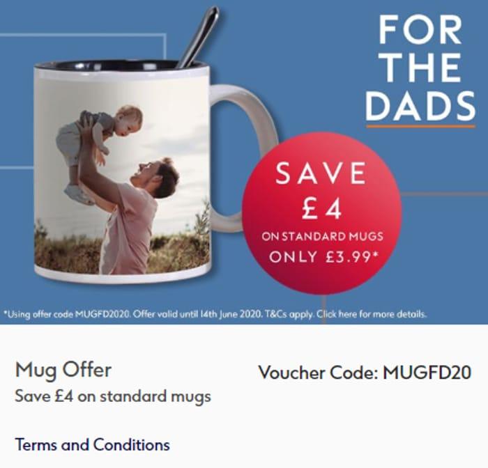 Save £4 on Standard Mugs