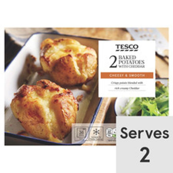 Tesco 2 X Baked Potatoes with Cheese 450G