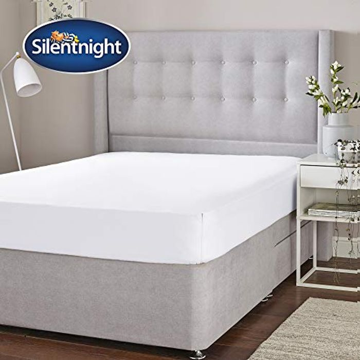 Silentnight Cotton Rich Fitted Sheet, White, Single (Prime)