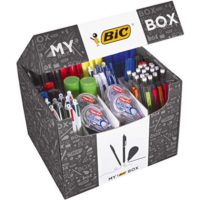 My BIC Box Stationery Supplies Collection - Assorted Products, Lot of 124