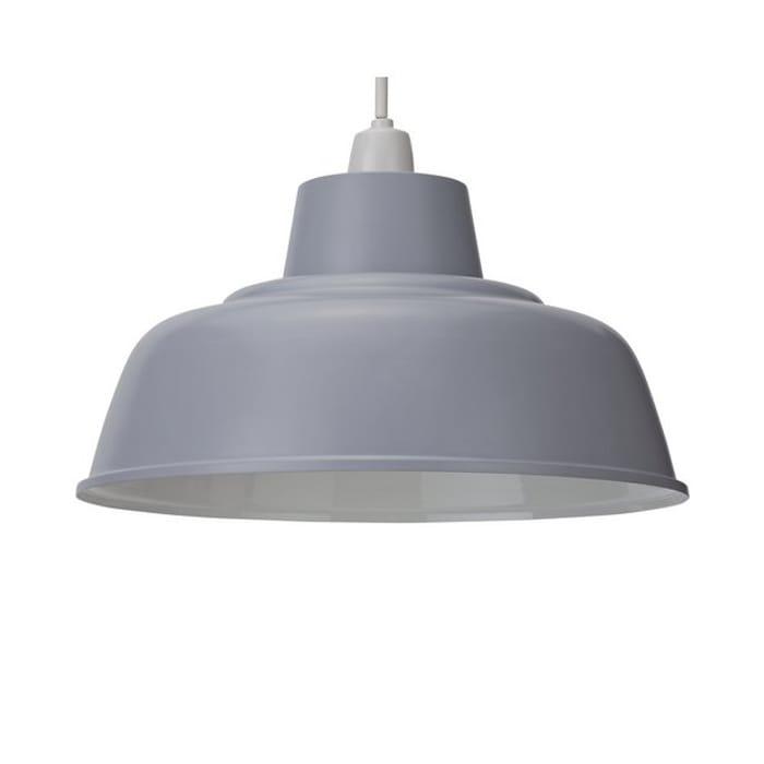 Argos Home Metal Shade - Dove Grey