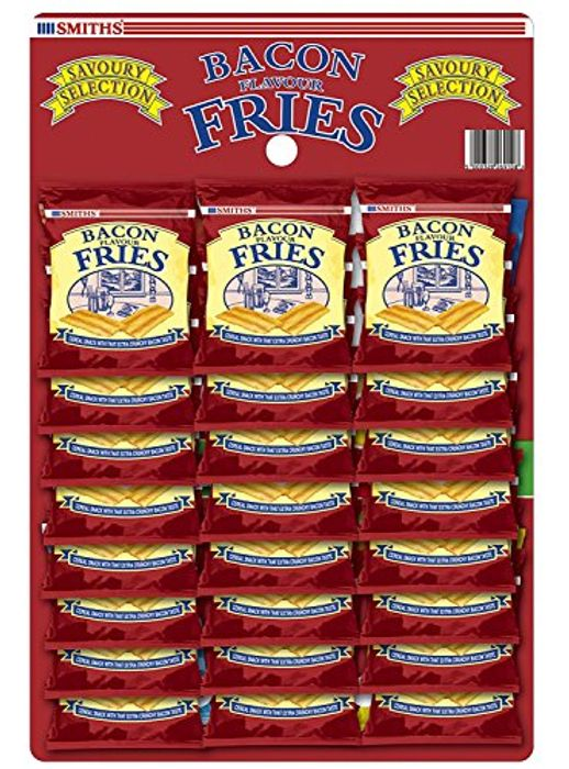 Smiths Savoury Snacks Bacon Fries Carded Pub Favourites, 24 G (Pack of 24)